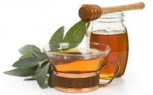oczyszczający napar z miodem i octem herbata